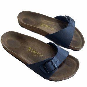 BIRKENSTOCK Men Navy Madrid Sandals Size 39